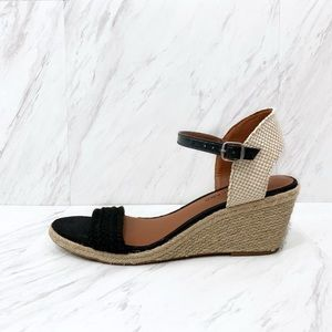 Lucky Brand- Katereena Wedges in Black & Neutral